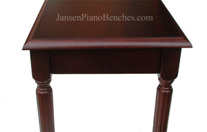 schaff mahogany piano bench wood top