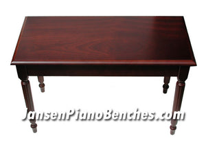 piano bench with music compartment mahogany finish by Schaff