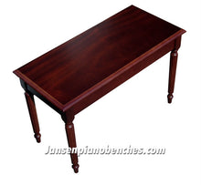 Load image into Gallery viewer, mahogany piano bench with music compartment
