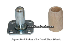 Grand Piano Casters Brass Piano Wheel 1-3/4""