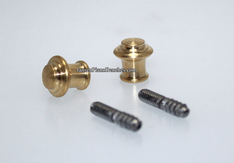 brass piano desk knobs tiered