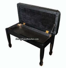 Load image into Gallery viewer, grand piano bench high gloss padded