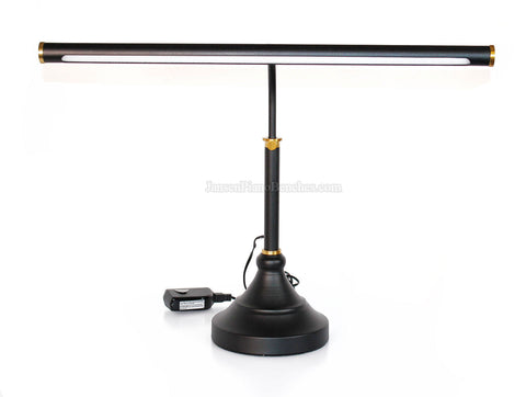 LED Piano Lamp Black with Brass Accents - 19.5