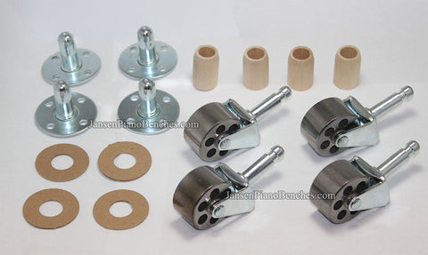 upright piano wheel replacement iron casters with sockets