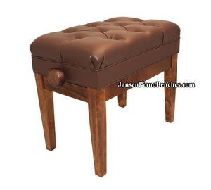 adjustable piano bench walnut high gloss