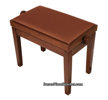 Load image into Gallery viewer, walnut adjustable height piano bench