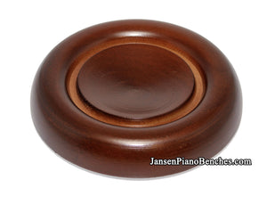 walnut grand piano caster cup with felt pad schaff 837w