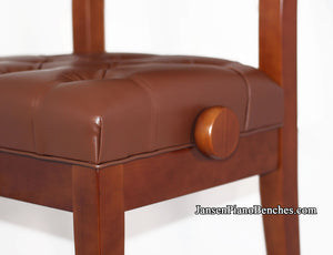 padded piano chair satin walnut