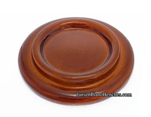 walnut high polish grand piano caster cup