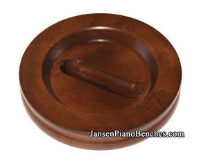 walnut grand piano caster cup satin finish
