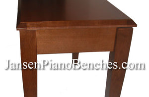 jansen upright piano bench walnut