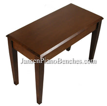 Load image into Gallery viewer, jansen grand piano bench walnut finish wood top