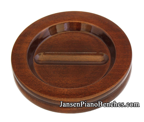 high polish grand piano caster cup walnut