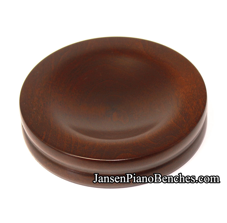 jansen piano caster cup walnut satin