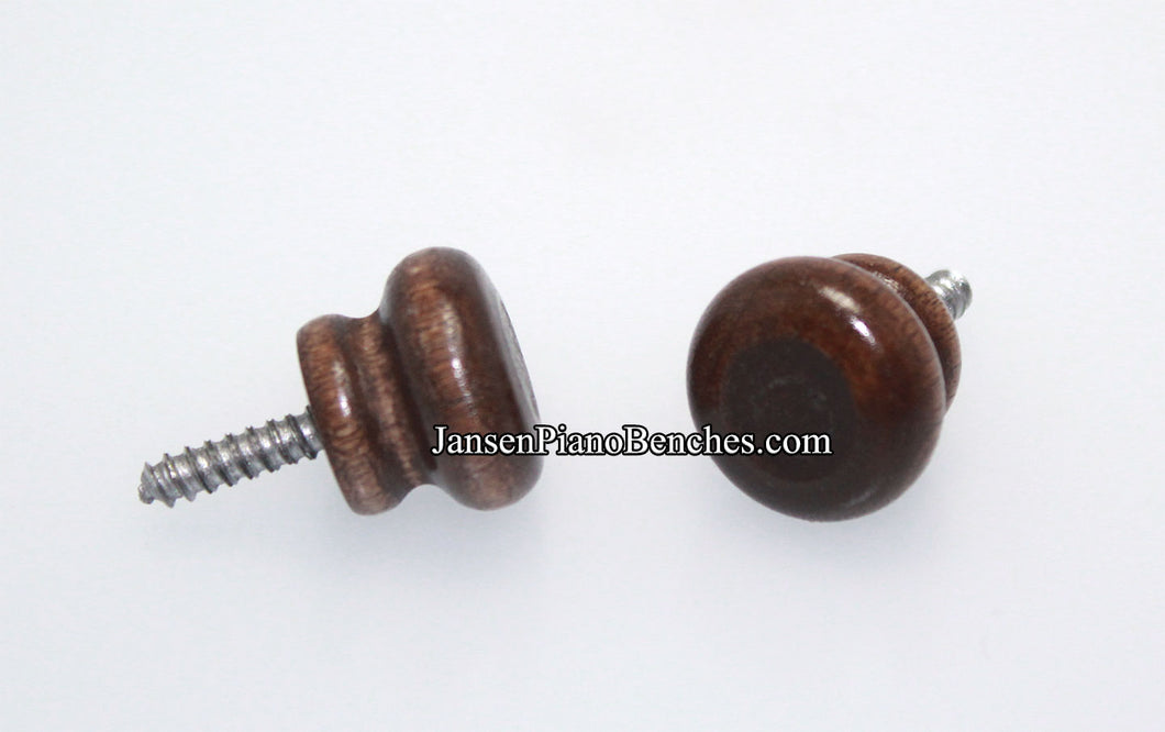 walnut wood piano desk knobs 361W