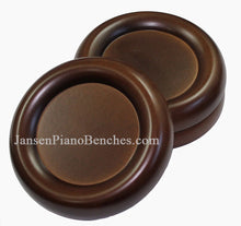 Load image into Gallery viewer, walnut grand piano caster cups schaff