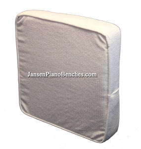 piano bench booster cushion white fabric