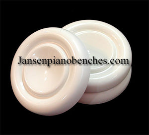 white grand piano caster cups