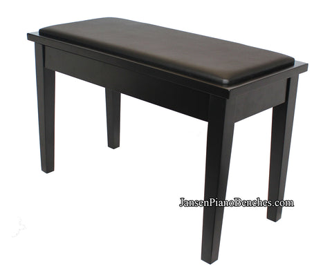 Yamaha piano bench black satin finish with square tapered legs