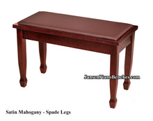 Load image into Gallery viewer, yamaha piano bench mahogany finish spade legs