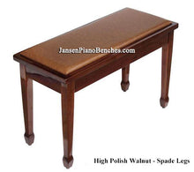 Load image into Gallery viewer, yamaha piano bench walnut high polish