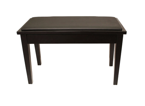 Yamaha Upholstered Piano Bench with Wood Trim and Storage Compartment