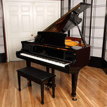 Load image into Gallery viewer, yamaha grand piano bench ebony high gloss black polish