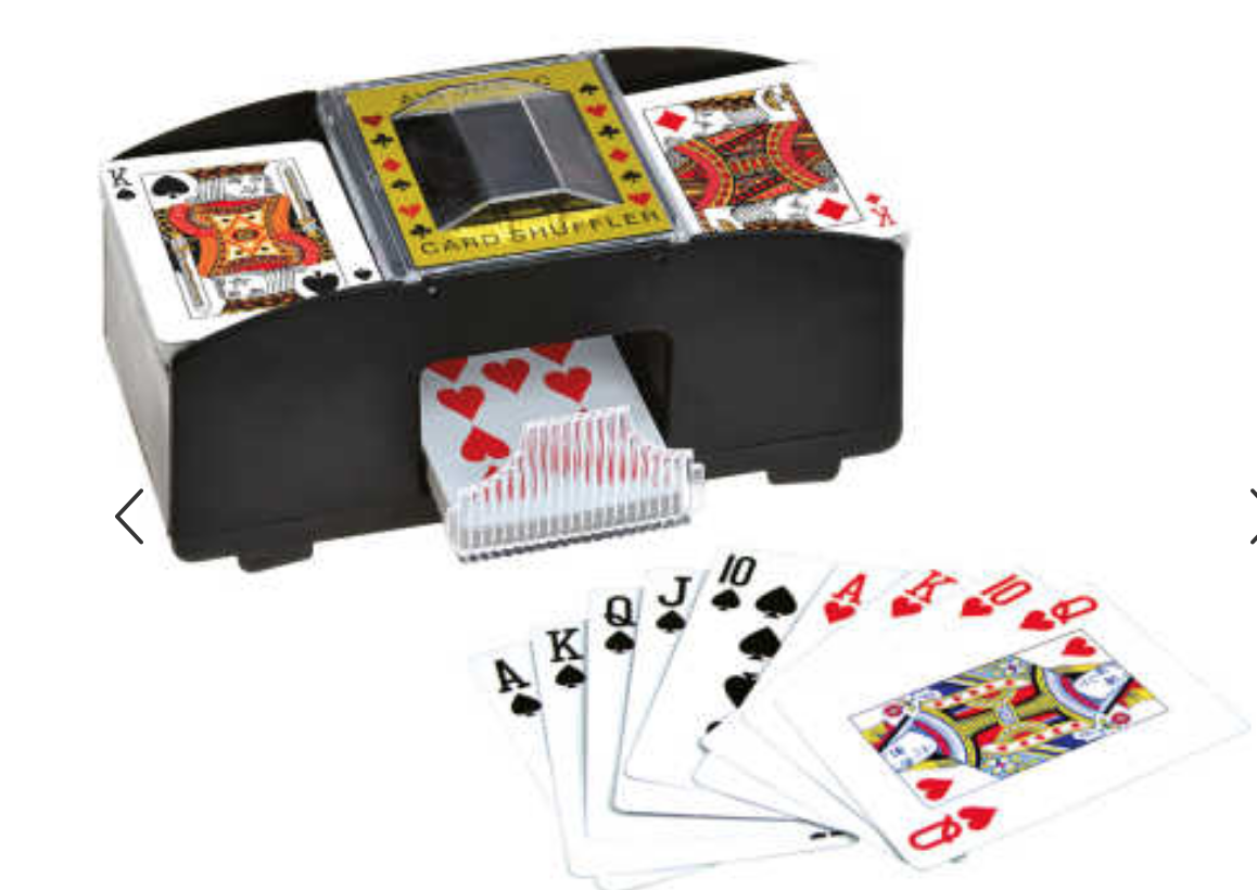 Automatic Card Shuffler Battery Powered Playing Card Shuffler Machine for 1 to 4 Deck Poker for Board Game Poker Playing Cards