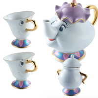 Disney Beauty & the Beast Mrs Potts & Chip Teapot and Tea Cup Set Or Sugar Bowl