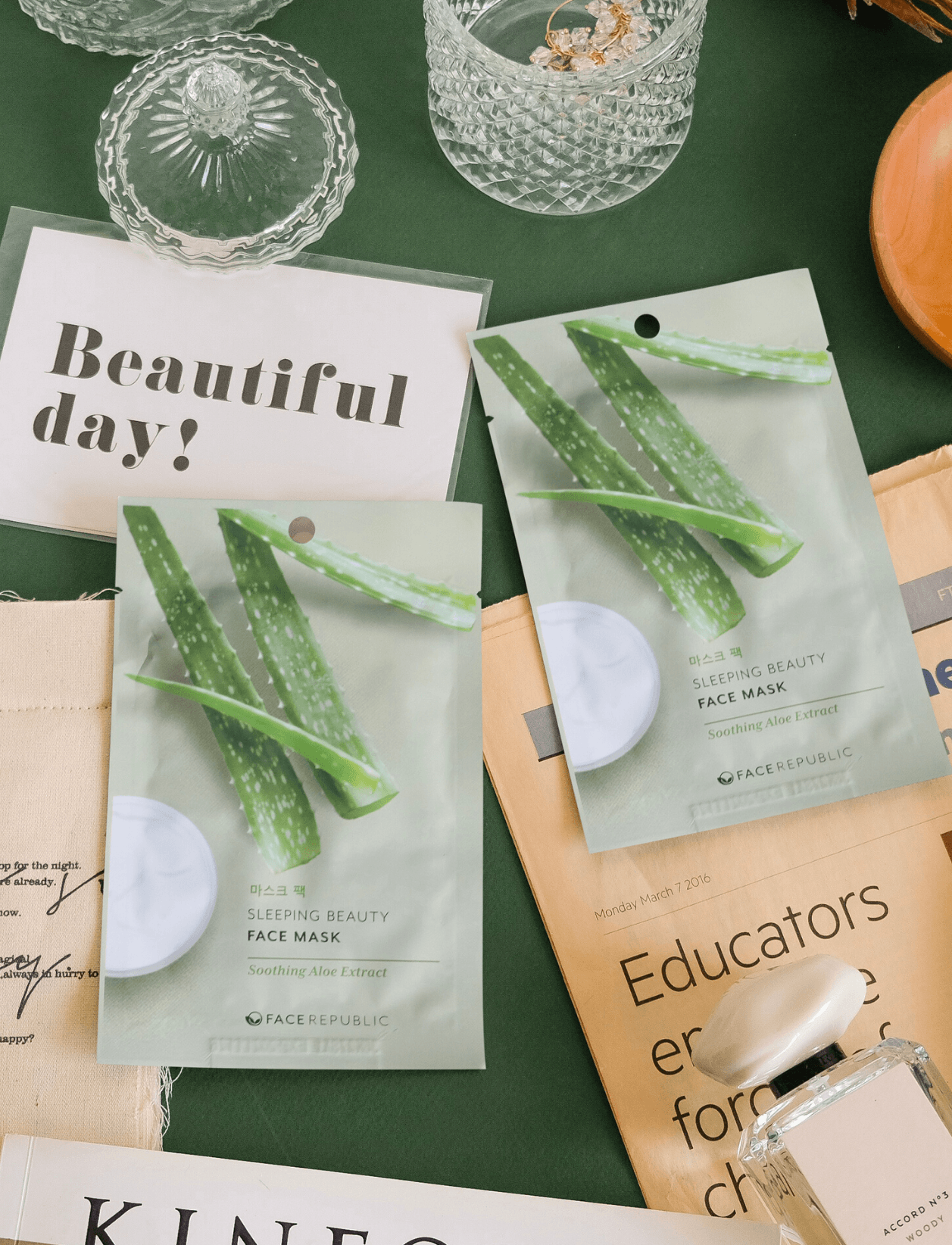 Face Republic Sleeping Beauty Face Mask with Soothing Aloe Extract