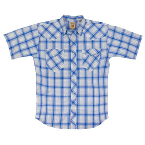 Resistol Joshua Blue & White Plaid Shirt