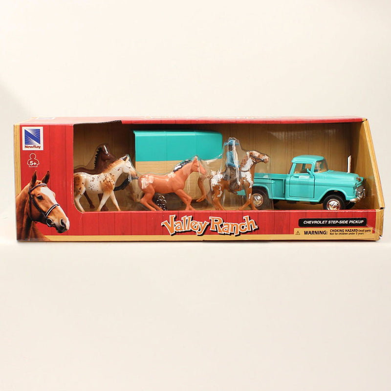 M&F Western Valley Ranch Truck & Trailer Toy Set