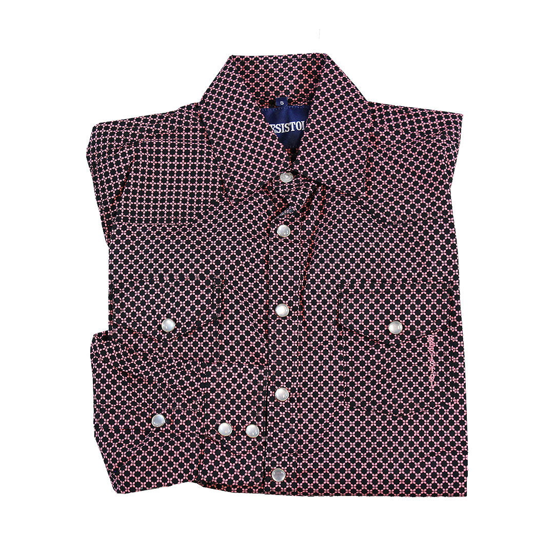 Resistol Ten Sleep Snap Diamond Print Shirt