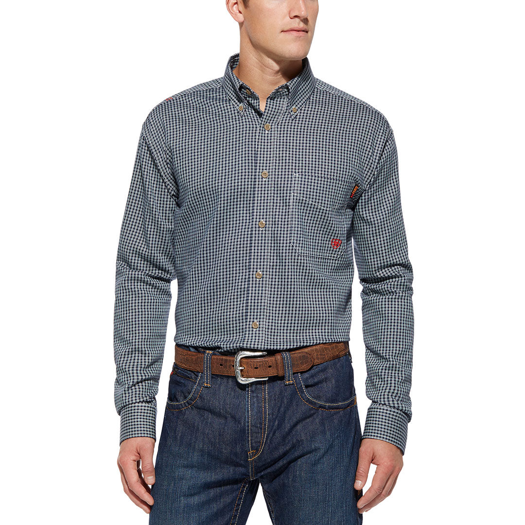 Ariat FR Work Plaid Button Shirt