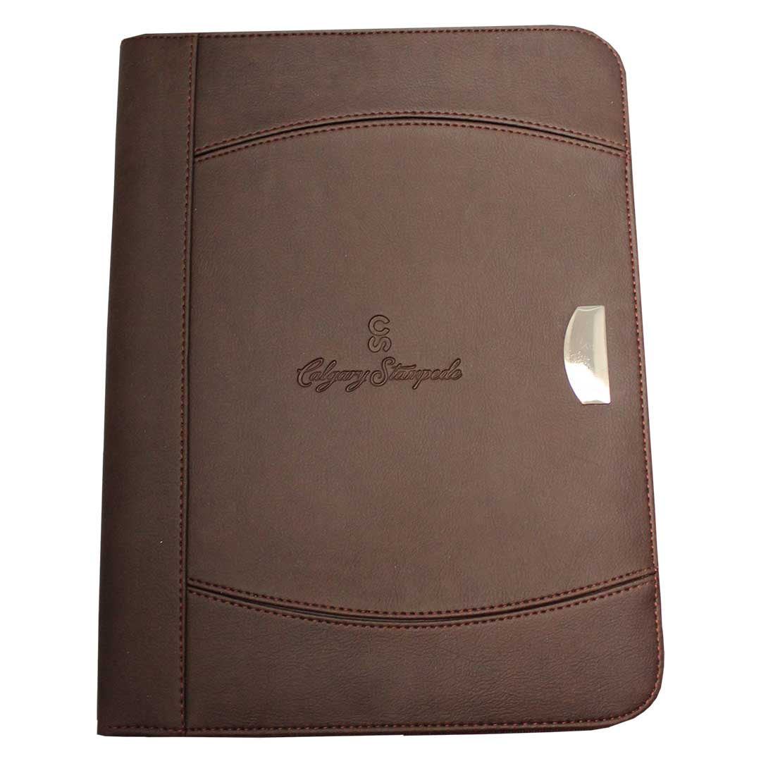 Calgary Stampede Brown Leather Padfolio
