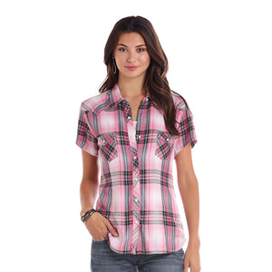Panhandle Pink & Black Plaid Shirt