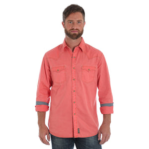 Wrangler Retro® Premium Red Enzyme Wash Shirt