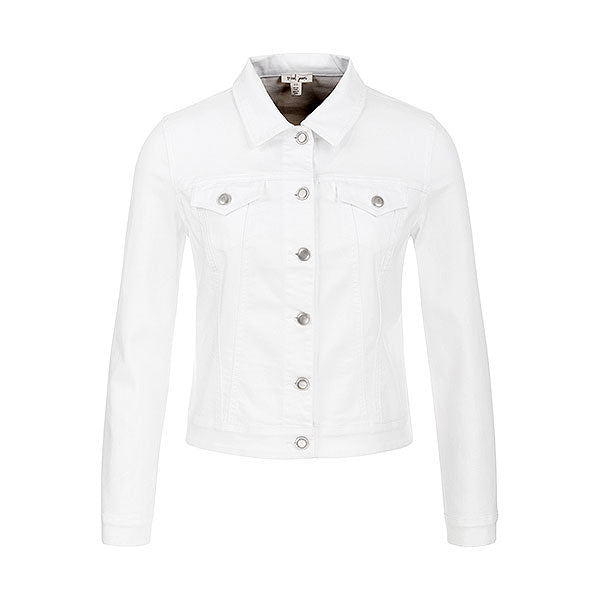 Tribal White Denim Jacket