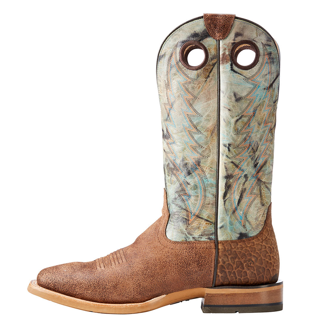 Ariat Branding Pen Scratched Sand Cowboy Boots