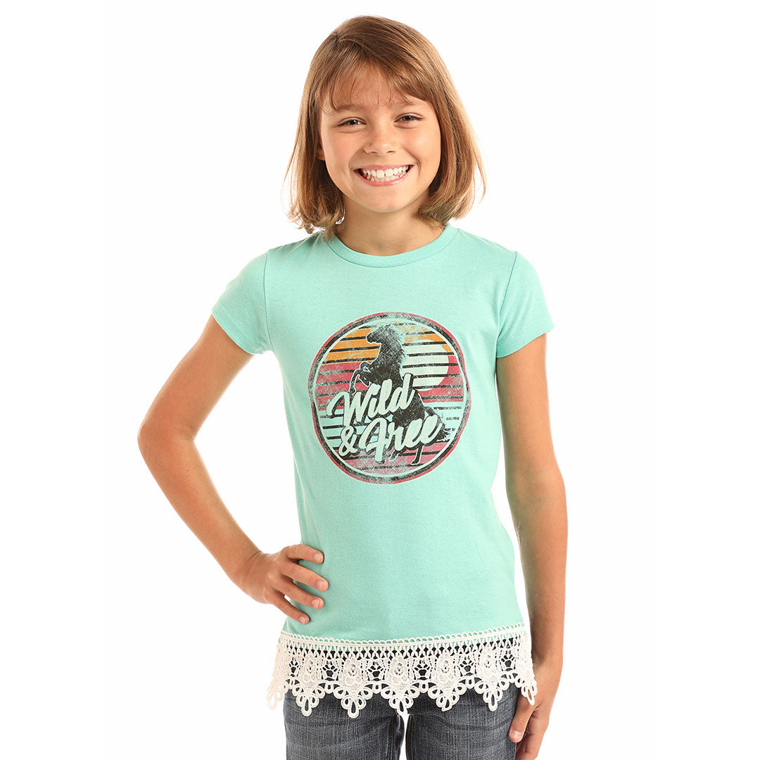 9d4b055f Rock & Roll Cowgirl Wild And Free Graphic T-Shirt | Girl's T-Shirt |  Lammle's