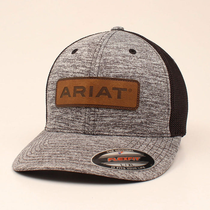 73f441ef0 Ariat Leather Patch Ball Cap
