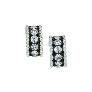 Montana Silversmiths Crystal Shine Small Hoop Earrings