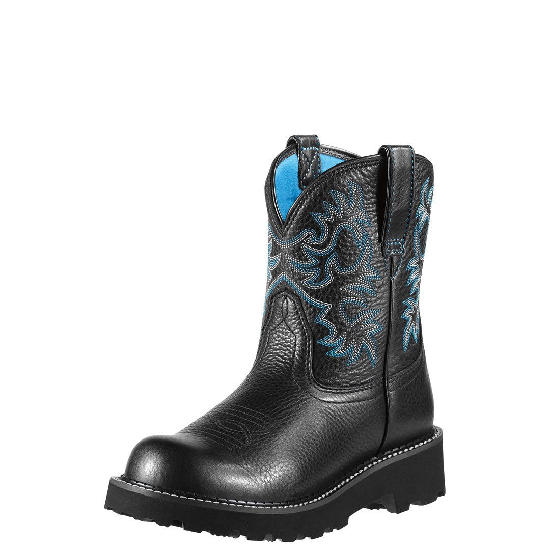 Ariat Fatbaby Black Deertan Cowgirl Boots
