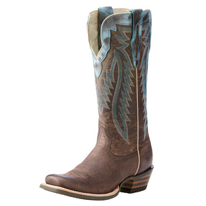 Ariat Futurity Blue Accent Brown Cowgirl Boots