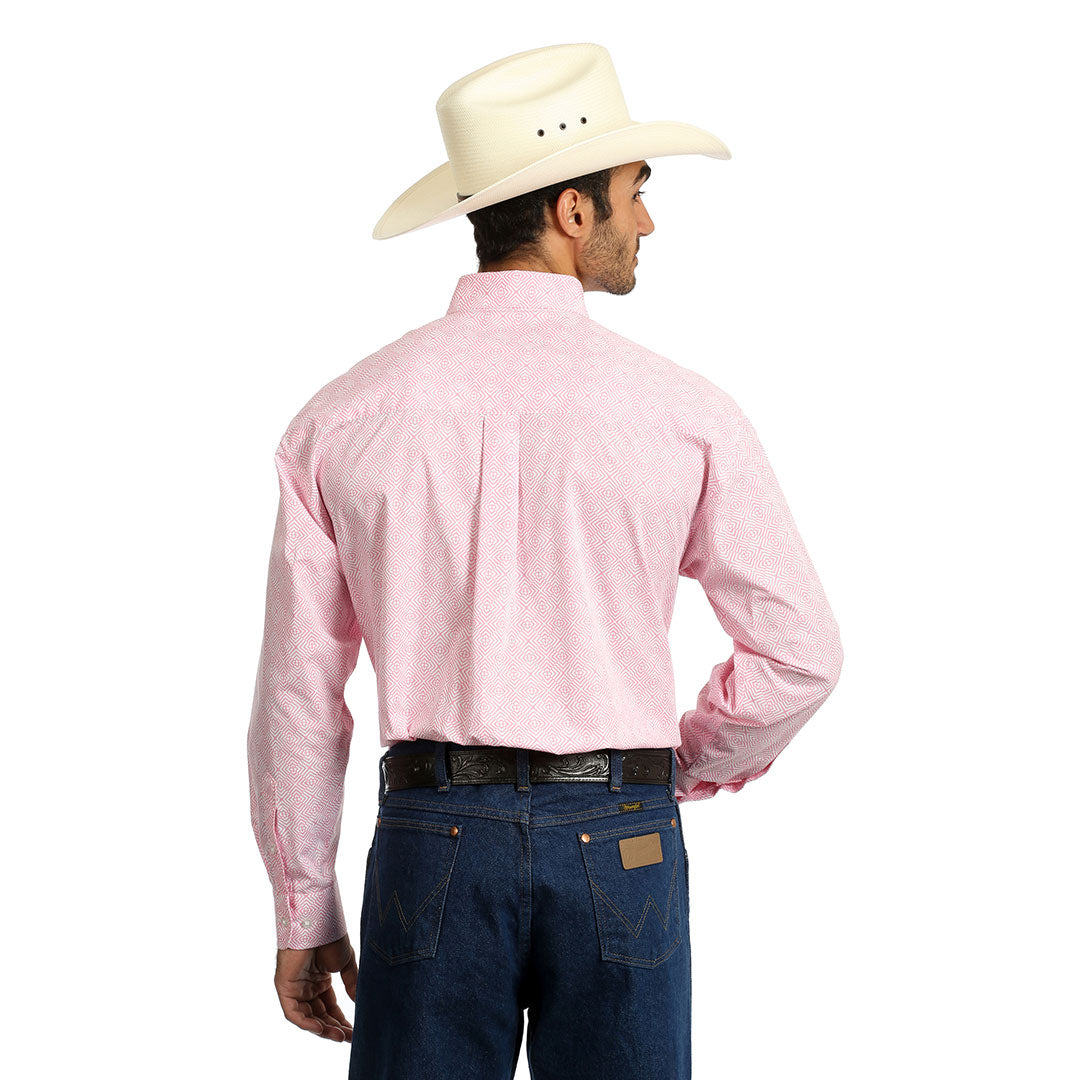 Wrangler® Pink Diamond Pattern Shirt