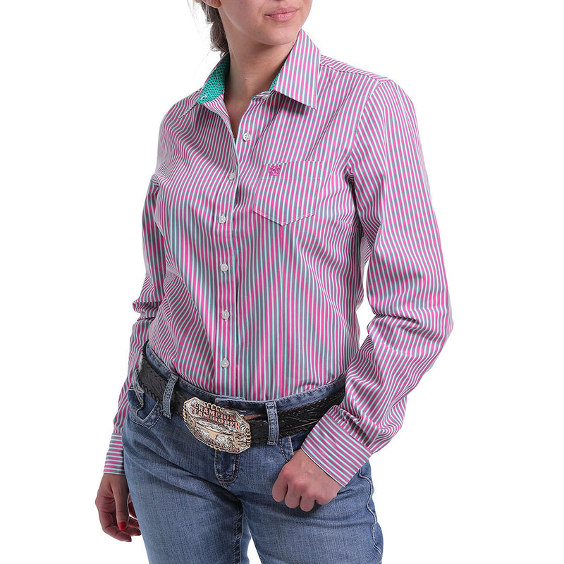 Cinch Pink Stripe Shirt