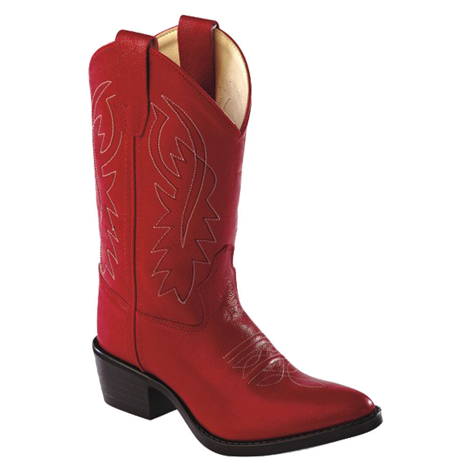 Old West Kids Red Western Boots