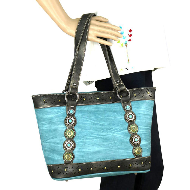 Montana West Turquoise Tote and Wristlet