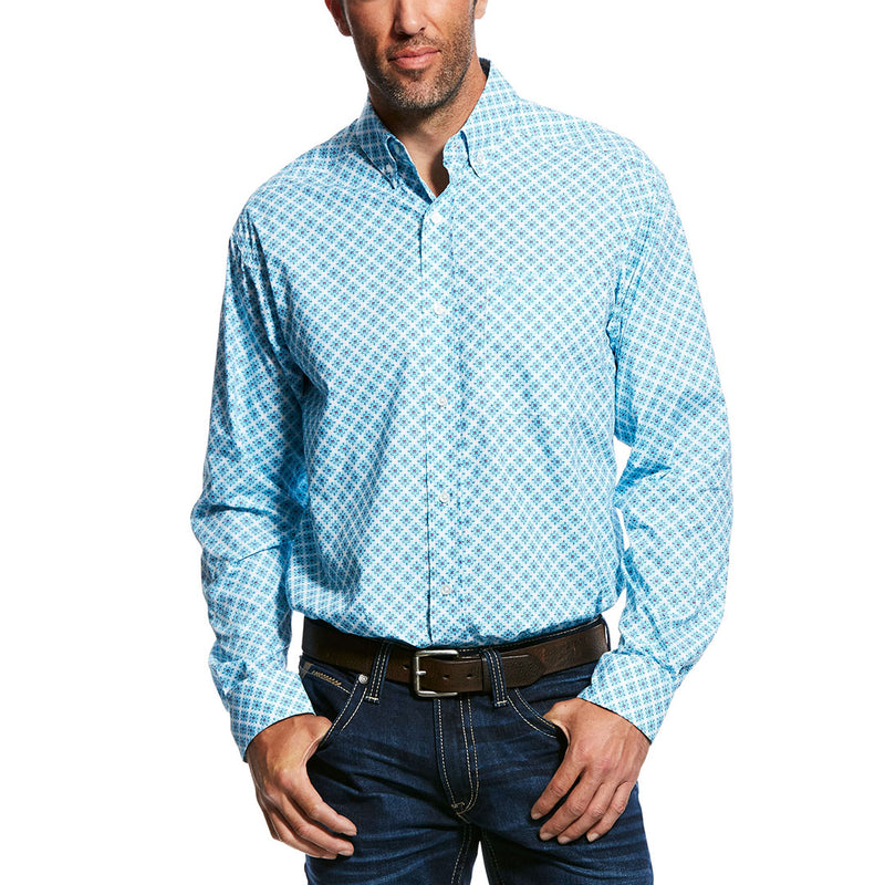 Ariat® Moran Blue & White Print Shirt