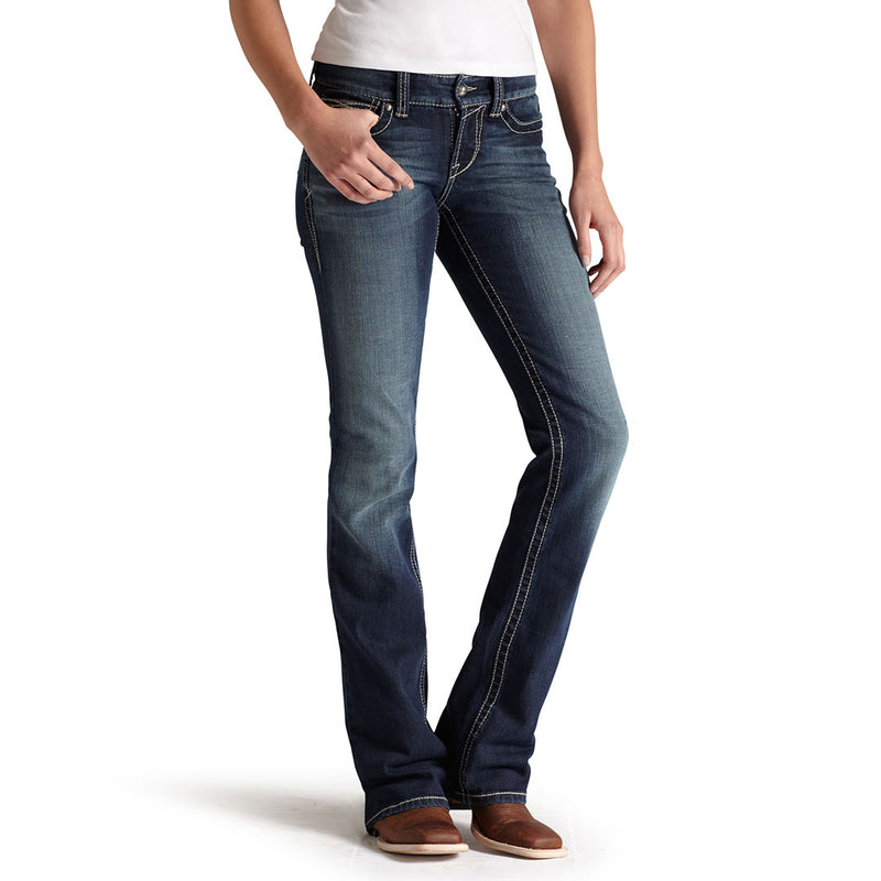Ariat Women's R.E.A.L. Entwined Mid Rise Bootcut Jeans